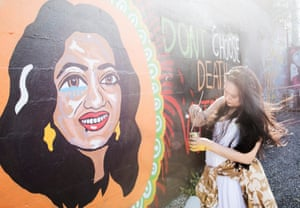 Thesis Statements For Argumentative Essays Graffitti Artist Shirani Bolle Paints An Image Of Savita Halappanavar Who  Died After Doctors Refused Thesis Statement For Education Essay also Expository Essay Thesis Statement Irelands Abortion Decision A Photo Essay  World News  The Guardian Thesis For Essay