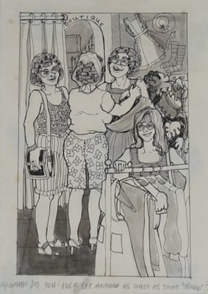 One of Cynthia Lennon's cartoon-style drawings.