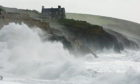 Sea change … drama on the Cornwall coast.