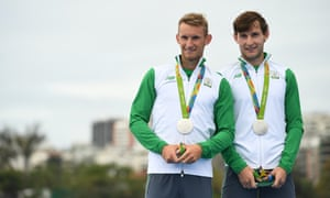 The brothers with their silver medals