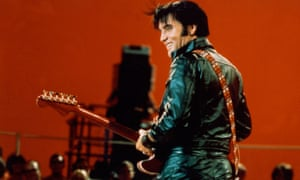 Elvis performing on the '68 Elvis Comeback Special.