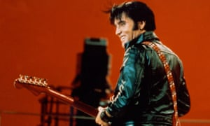 Pure Elvis? … Presley performing on the Comeback Special in 1968.
