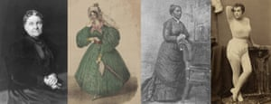 Hetty Green, Helen Jewett, Elizabeth Jennings Graham and Adah Isaacs Menken.
