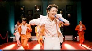 Jungkook of BTS performing