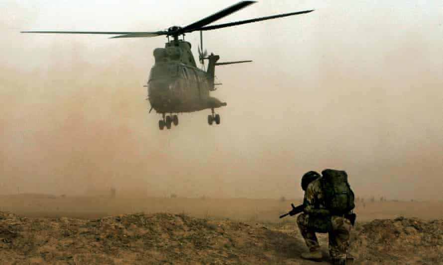 RAF Puma helicopter, similar to the Puma Mk 2 helicopter which crashed in Afghanistan, killing two service personnel from the RAF
