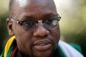 Zimbabwean pastor Evan Mawarire during a recent interview in Johannesburg, South Africa.