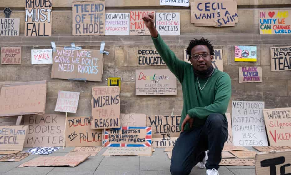Simukai Chigudu at a protest in Oxford in June last year.