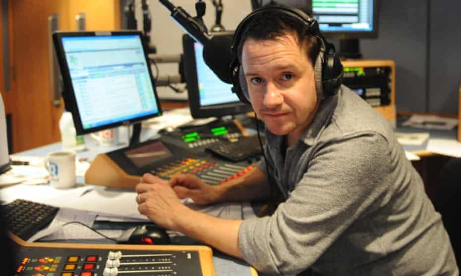 Jon Holmes, as the presenter on BBC Radio 4's The Now Show.