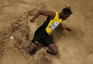 Jamaica's Tajay Gayle in action.