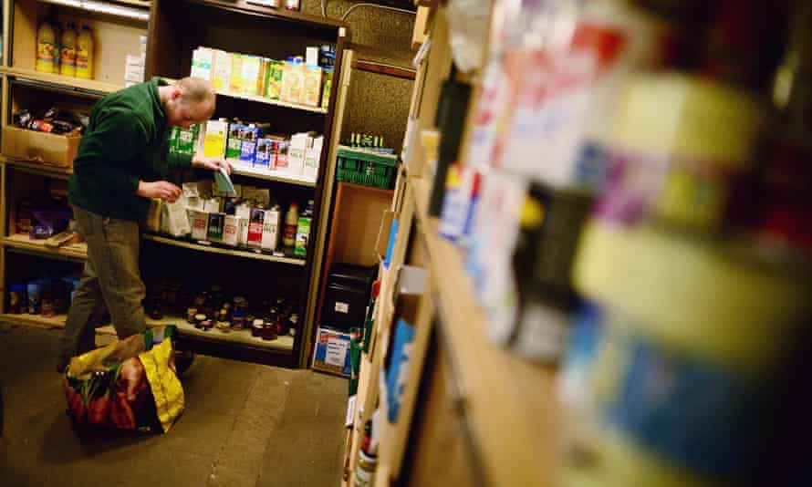 A foodbank run by the Trussell Trust in Scotland