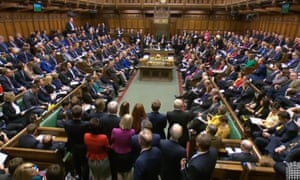 A packed debating chamber in the House of Commons