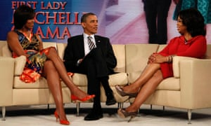 President Barack Obama and Michelle Obama appear on The Oprah Winfrey Show.