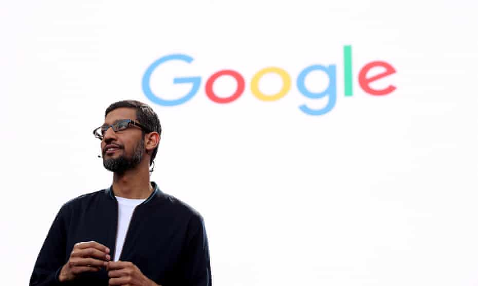 The Google CEO Sundar Pichai speaks during Google I/O 2016 at Shoreline Amphitheater on 19 May 2016 in Mountain View, California.