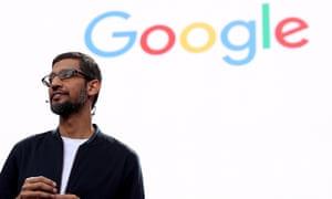 Google's CEO, Sundar Pichai. The company has forged a partnership with Ascension, a major hospital chain.