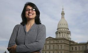 Rashida Tlaib in Lansing, Michigan.