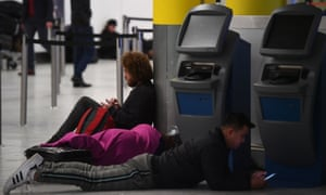 Passengers are spending the night at Gatwick Airport due to the disruption
