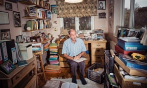 Hunter Davies in his wife's study at their home in north London