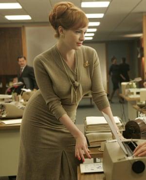 Christina Hendricks as Joan Holloway in Mad Men.