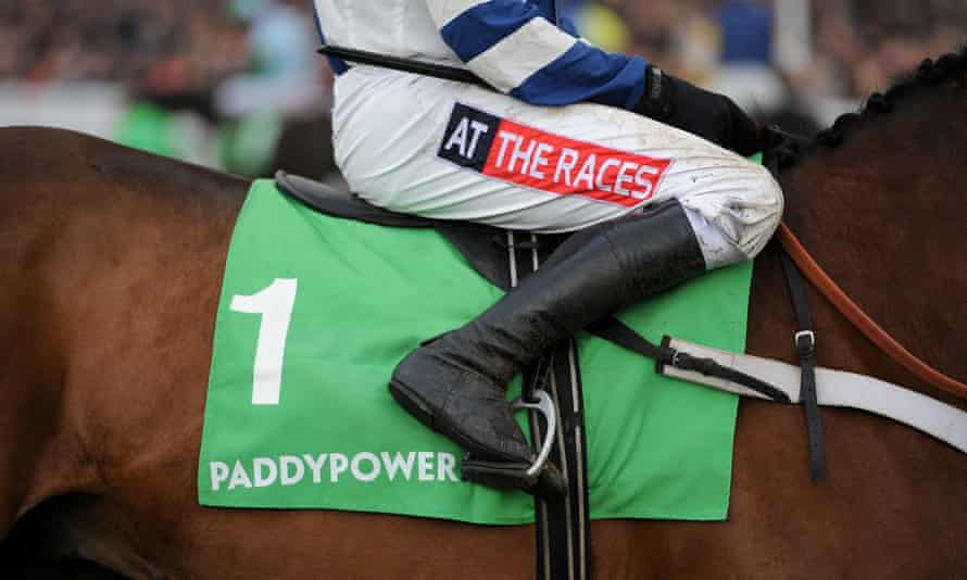 Paddy Power branding at Cheltenham racecourse