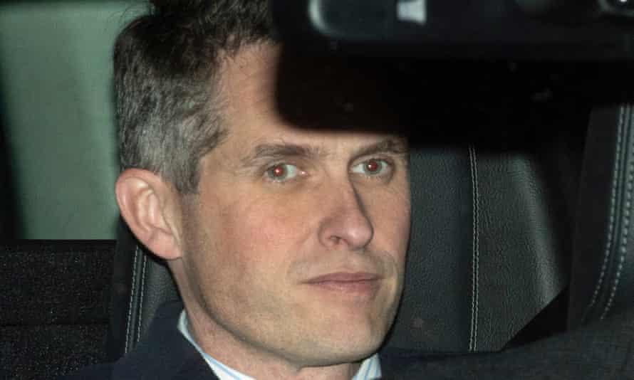 Gavin Williamson in car