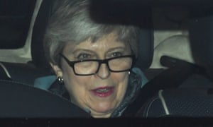 Theresa May arriving at Parliament on Wednesday.