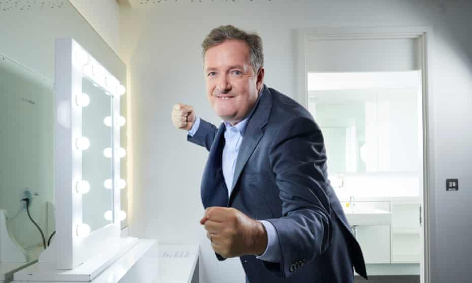 Piers Morgan in his dressing room at Television Centre, London