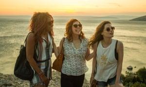 Phoebe Robinson, Vanessa Bayer and Gillian Jacobs in Ibiza.