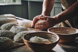 Monks making bread