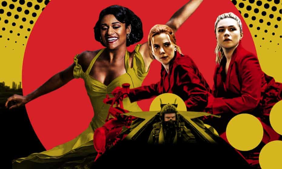 From left: West Side Story, Black Widow, Top Gun: Maverick.