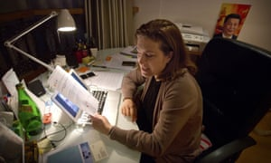 Ursula Gauthier at her desk
