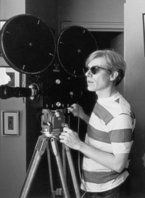 The real Andy Warhol, filming Chelsea Girls in 1967.