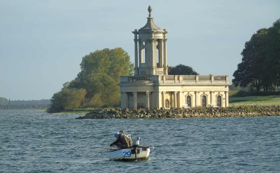 Fishing on Rutland Water, the largest reservoir in England.