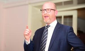 Paul Nuttall addresses Ukip members in Margate, Kent.