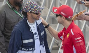 Lewis Hamilton is greeted by Sebastian Vettel in Montreal.