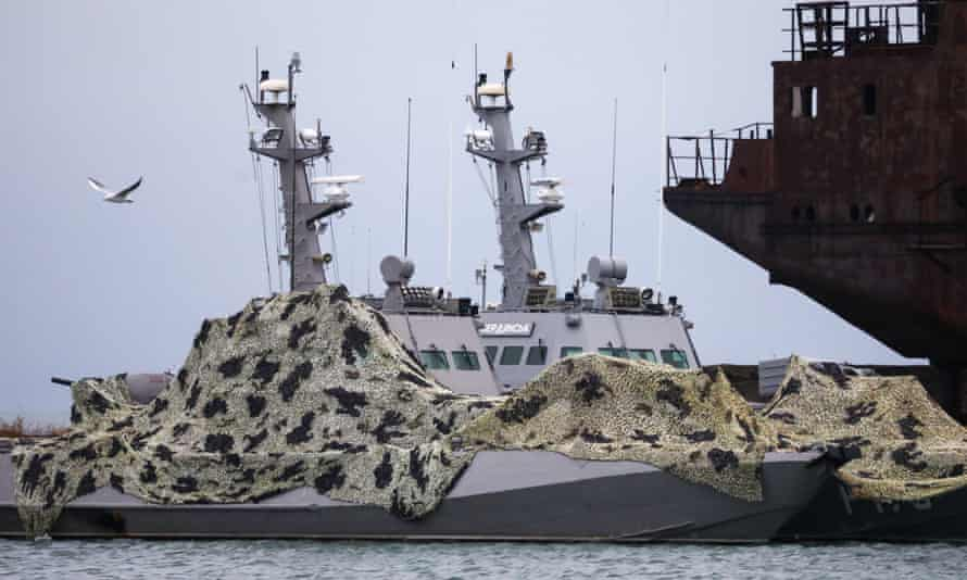 The artillery boats detained by Russian forces in the Kerch Strait last month