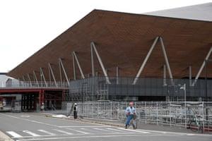 The exterior of Ariake Gymnastics Centre