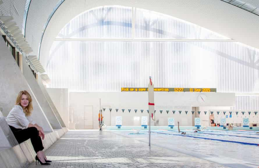 A 'cathedral': Author Anna Funder at Ian Thorpe Aquatic Centre, designed by Harry Seidler and Associates
