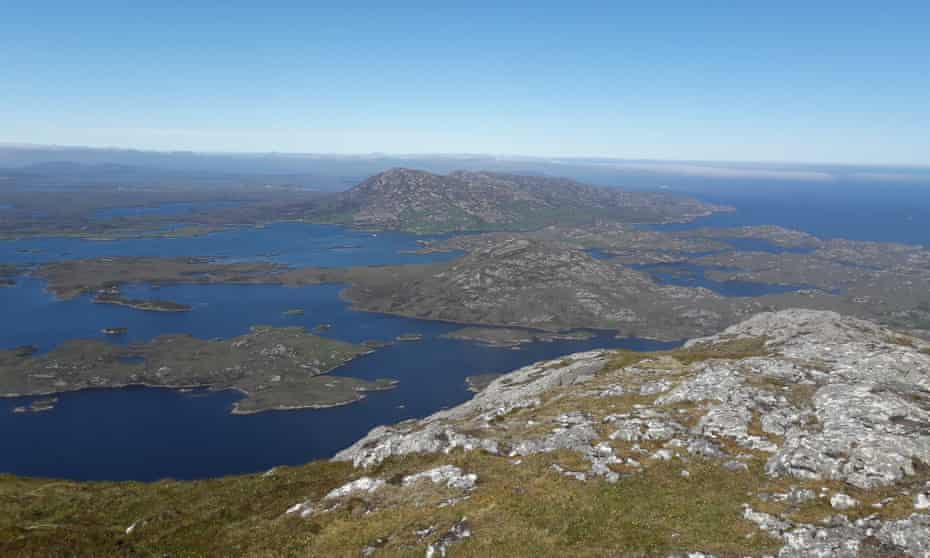 Hills and sea lochs of South Uist, Scotland, UK.