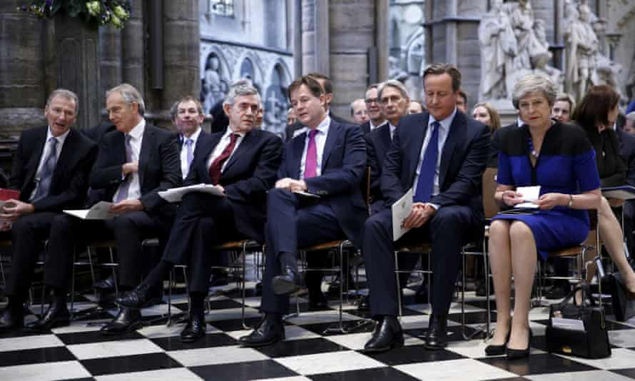 The front row at Jeremy Heywood's memorial service in June 2019.