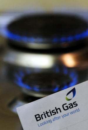 A gas hob with a bill from British Gas.