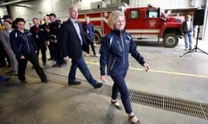 Alberta premier Rachel Notley in Fort McMurray.