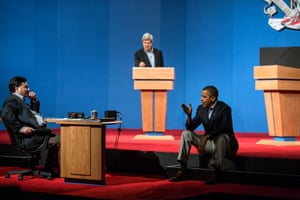 2 October: 'The president talks with Ron Klain during debate preparations in Henderson, Nevada. John Kerry played the role of Mitt Romney during the prep sessions'