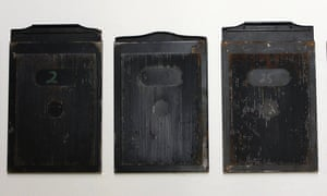 3 negative plates cases believed to have belonged to Walter Doughty, the Guardian's first photographer. GNM Archive ref: GUA/12/9/2