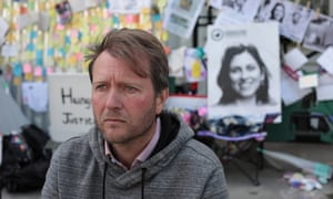 Richard Ratcliffe on hunger strike outside the Iranian embassy in London earlier this year.