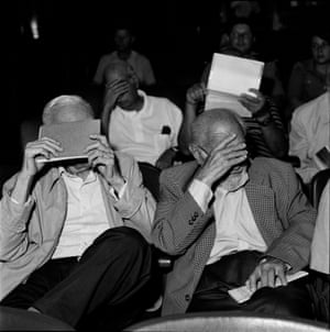 Bahia Blanca, Argentina, February 2012Former military men hide their faces during a session of their trial, after being accused of crimes against humanity during Condor