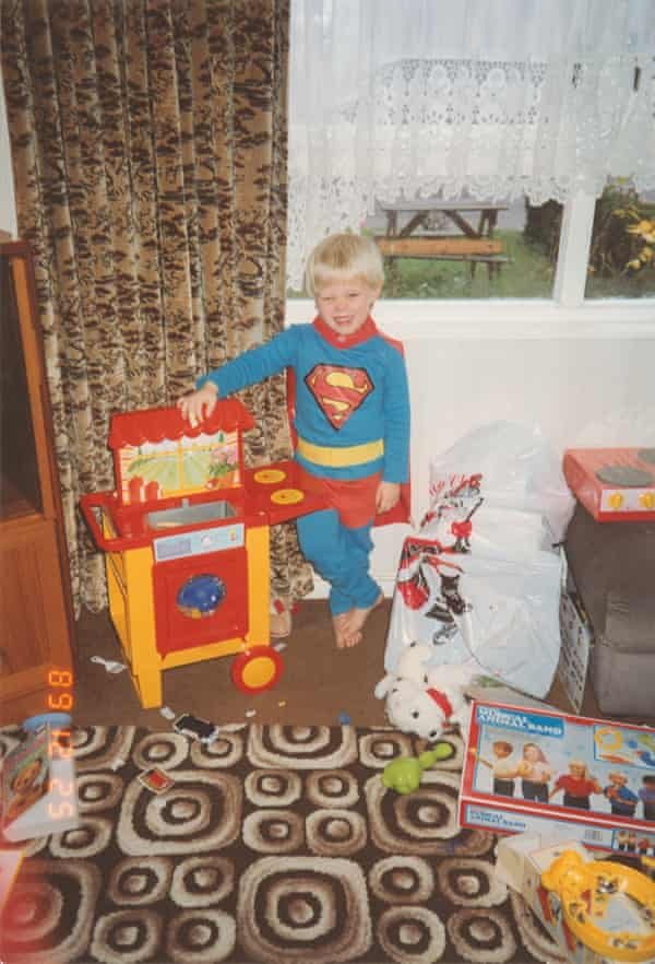 Rob Beckett at home in the 80s