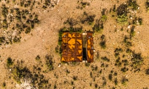 An aerial view of the nuclear missile silo.