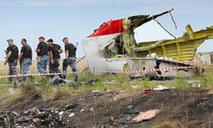 The MH17 crash site in eastern Ukraine