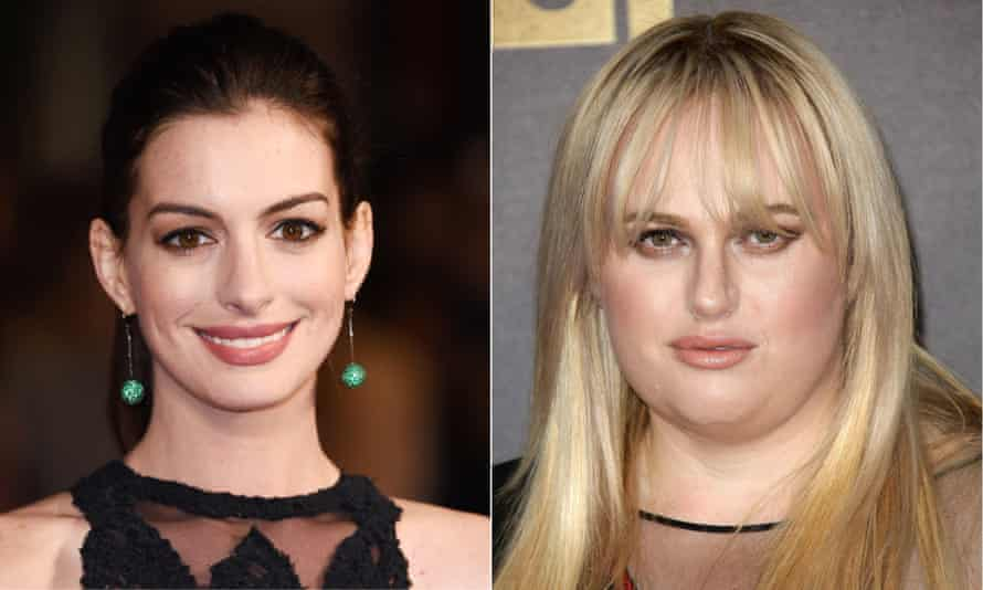 Nasty women ... Anne Hathaway and Rebel Wilson.