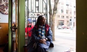 Janice Mack, 62, at non-profit cafe Sisters of the Road in Portland.